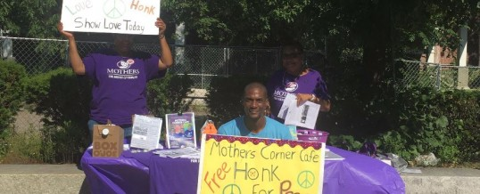 Mothers for Justice and Equality's Mothers Corner Cafe Mondays Series